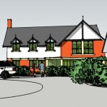 CUDDINGTON HOUSE Sketch proposals - front elevation