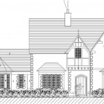 THE OLD VICARAGE, KINGSLEY - Proposed front elevation